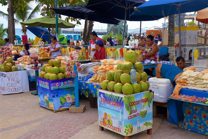 Handel in Playa del Carmen, Mexico stock afbeeldingen