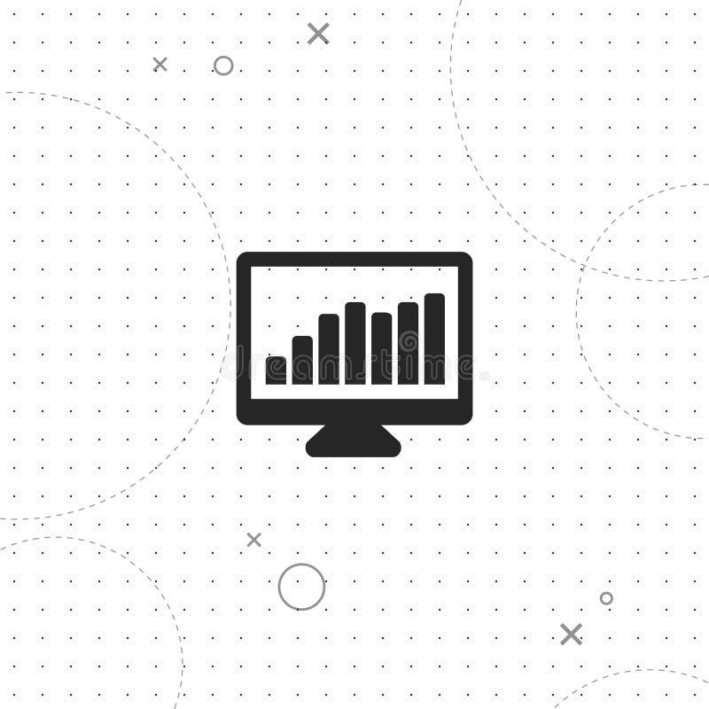 Handel statistik, bästa plan symbol för vektor royaltyfri illustrationer