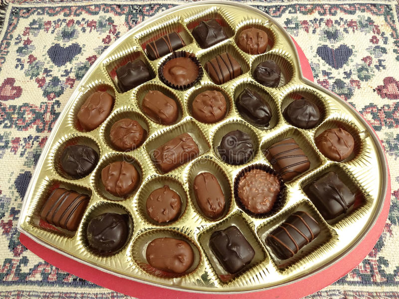 Handel-Valentinstag-Süßigkeits-Herz stockbild