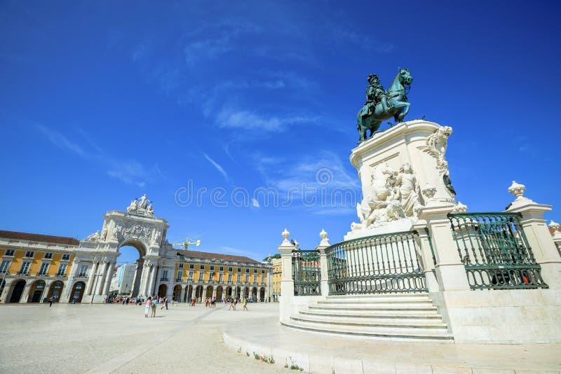 Handel vierkant Lissabon stock afbeeldingen