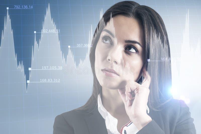 Handelaar en de groeiconcept royalty-vrije stock afbeelding