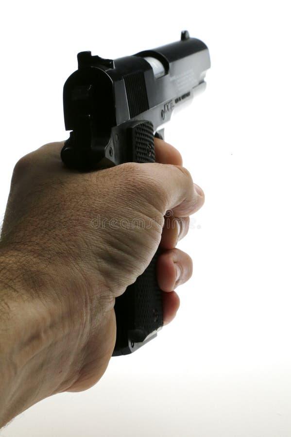 Handeldvapen som pekas royaltyfri foto