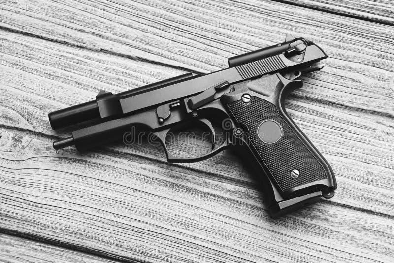 Handeldvapen vapenserie, modern U S Isolerat på en vit bakgrund fotografering för bildbyråer