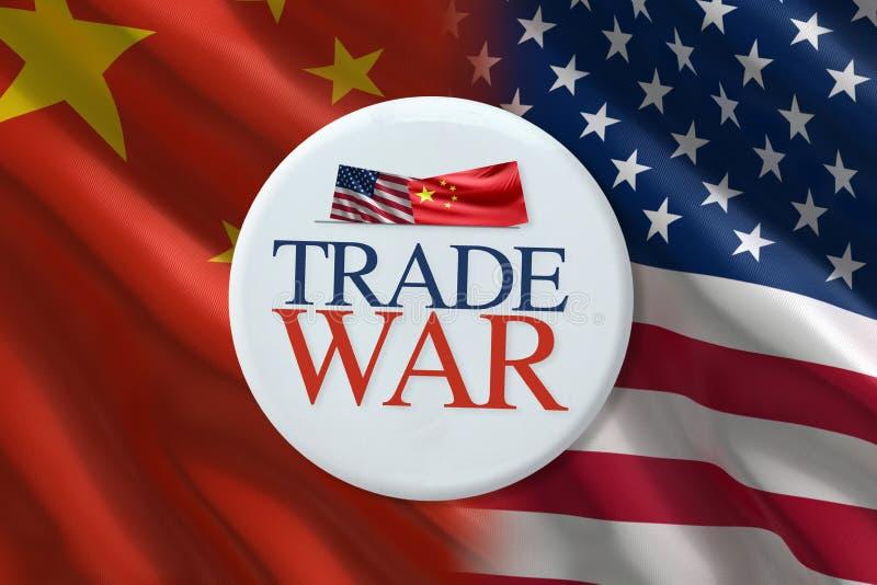Handelkrig stock illustrationer