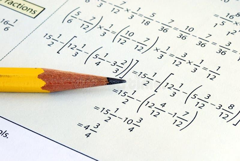 Handeln etwas Gradschule Mathe stockfotos