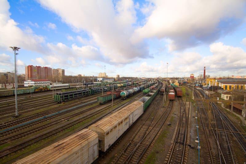 Handelsbahnbeförderung lizenzfreie stockfotos