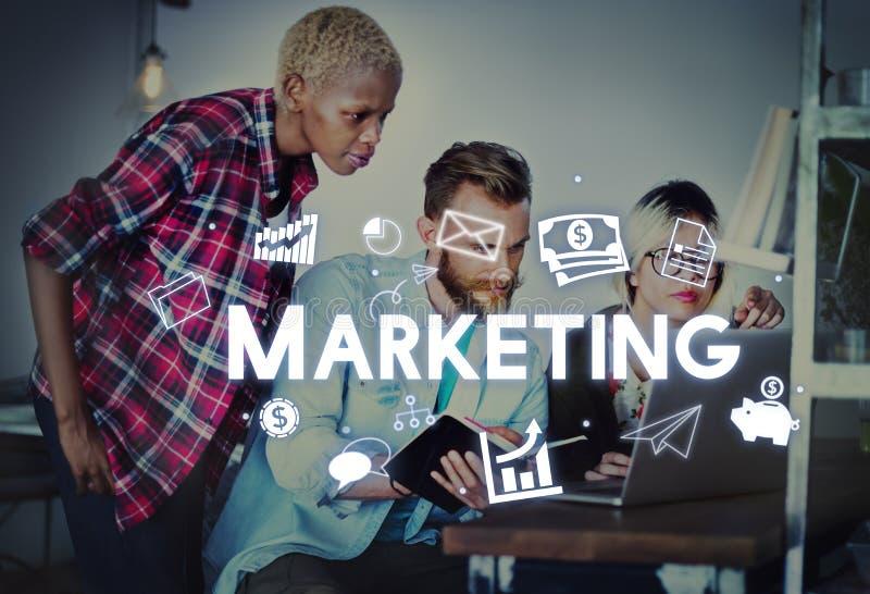 Handelsbranding-Konzept Marketing-Geschäft Avertising lizenzfreie stockbilder