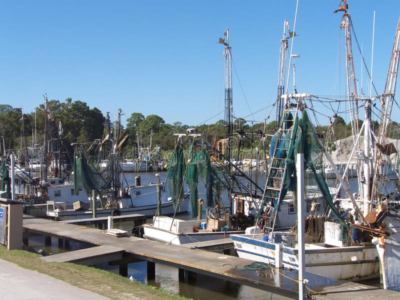 Handelsfischerboote stockfotos