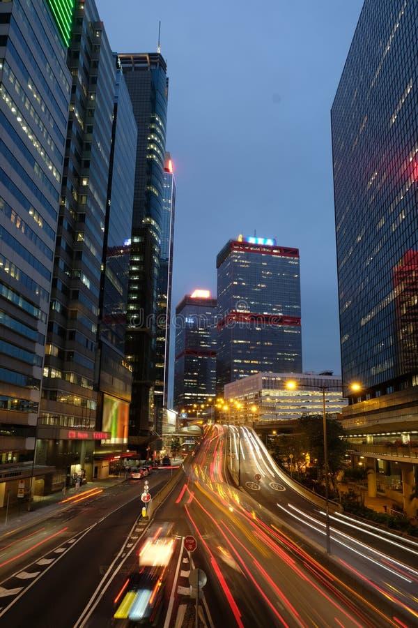 Handelsgebäude bei zentralem Hong Kong lizenzfreies stockbild