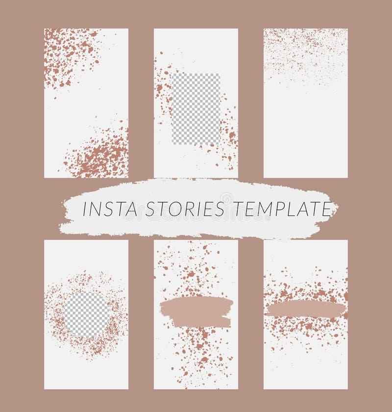 Handelsgeschichten entwerfen, ENV 10 Editable Geschichtenabdeckungsentwurf für Förderung Geometrische Elemente, modische Farben stockfoto