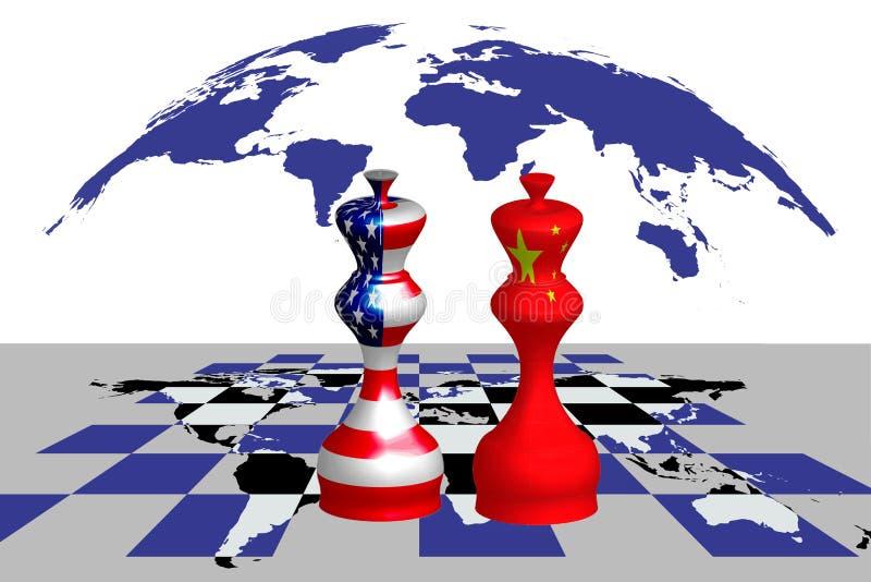 Handelskonflikt zwischen USA und China lizenzfreie abbildung