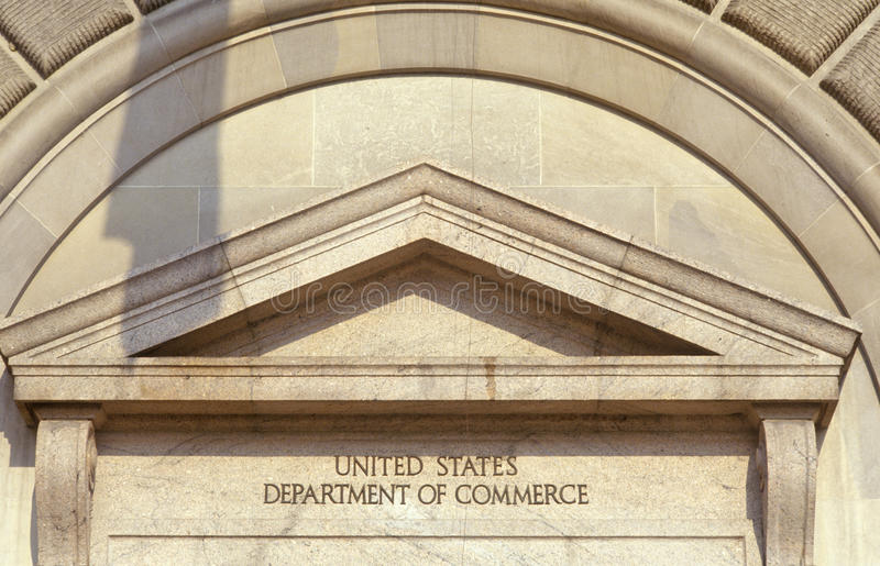 Handelsministerium Vereinigter Staaten, Washington, DC lizenzfreie stockfotografie