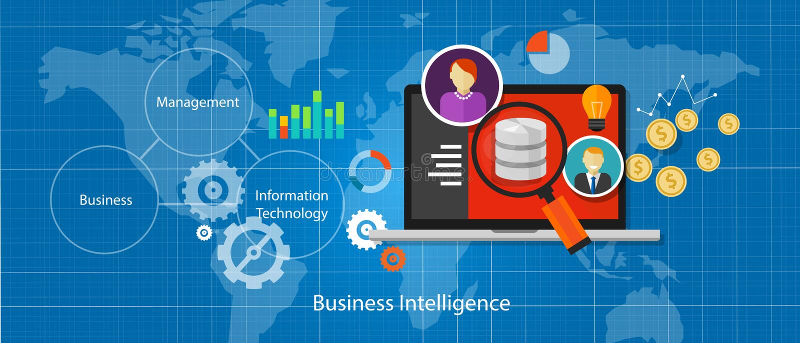 Handelsnachrichten-Datenbankanalyse stock abbildung