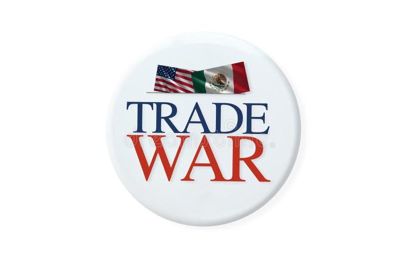 Handelsoorlog tussen Amerika en Mexico vector illustratie