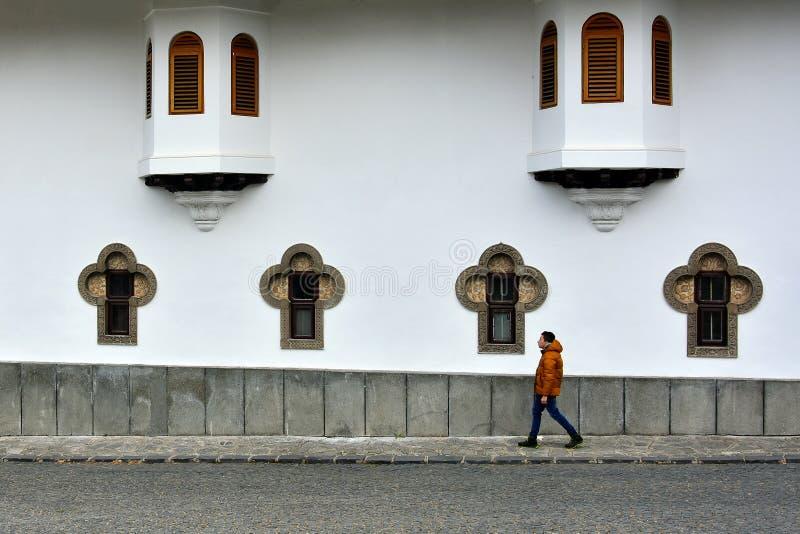 Handelsresande i Sinaia fotografering för bildbyråer
