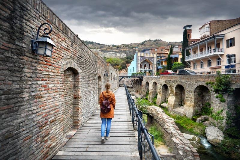 Handelsresande på det Abanotubani området av Tbilisi royaltyfri fotografi