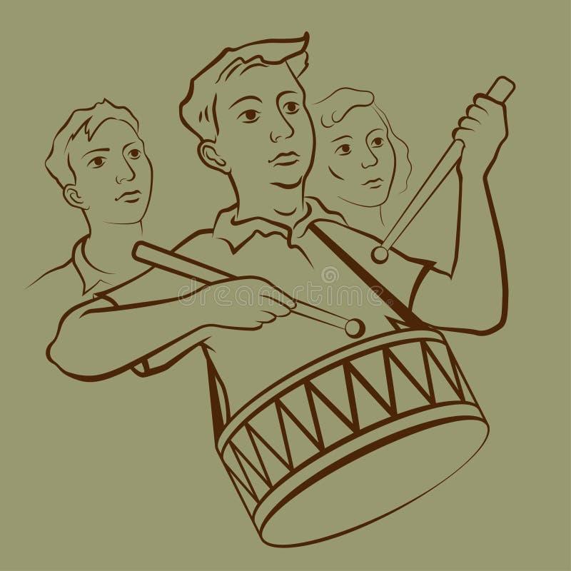 Handelsresandepojke royaltyfri illustrationer