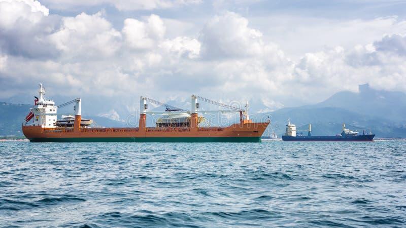 Handelsschiffe stockbild