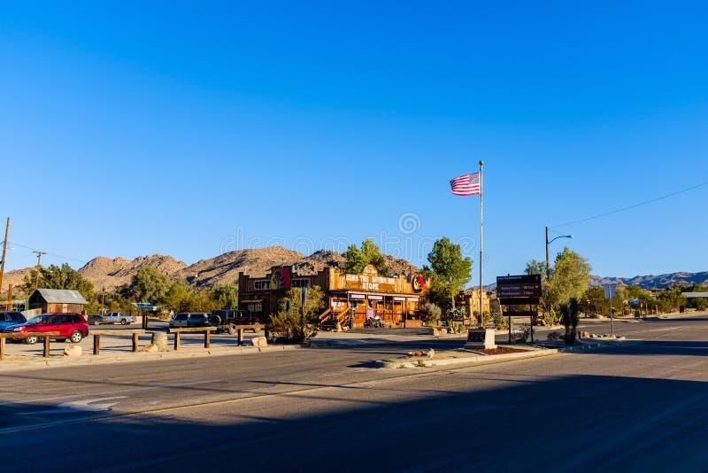 Handelsstation in einer Arizona-Wüste lizenzfreie stockfotos