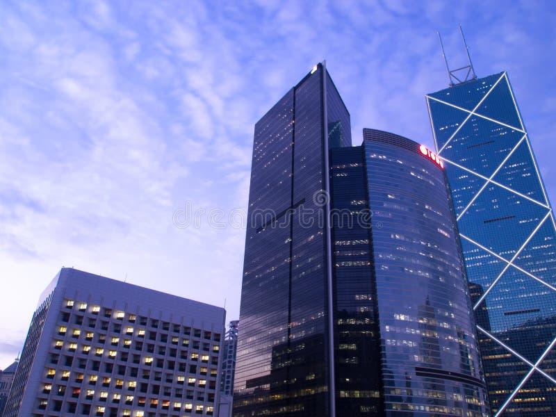 Handelswolkenkratzer stockfoto