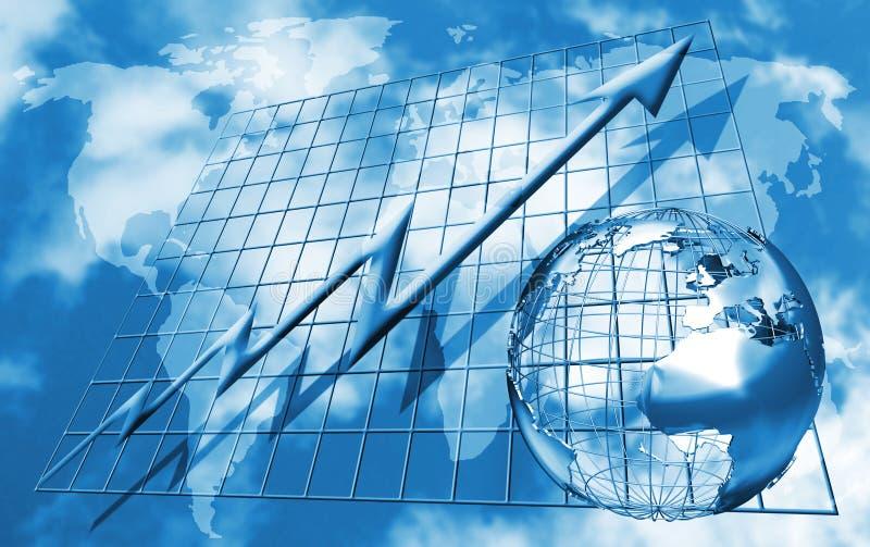 handelvärld vektor illustrationer