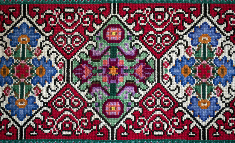 Handemade Slavic carpet royalty free stock images
