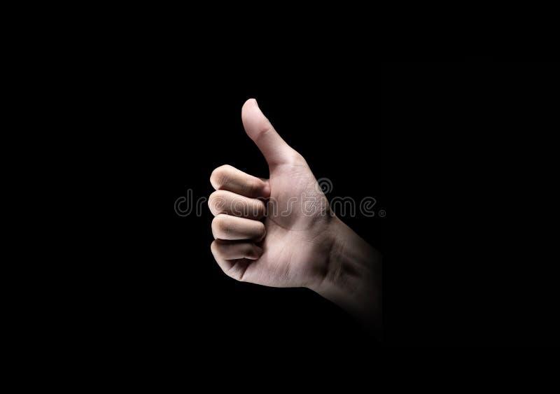 Handen die duim op gebaar tonen royalty-vrije stock foto's