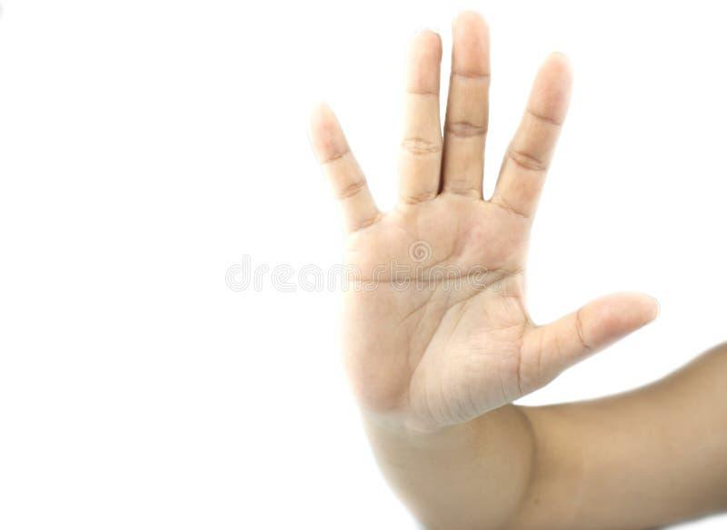 Handen die gebaren tonen royalty-vrije stock foto