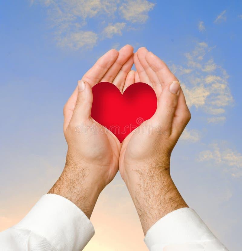 Handen die hart geven royalty-vrije stock foto's
