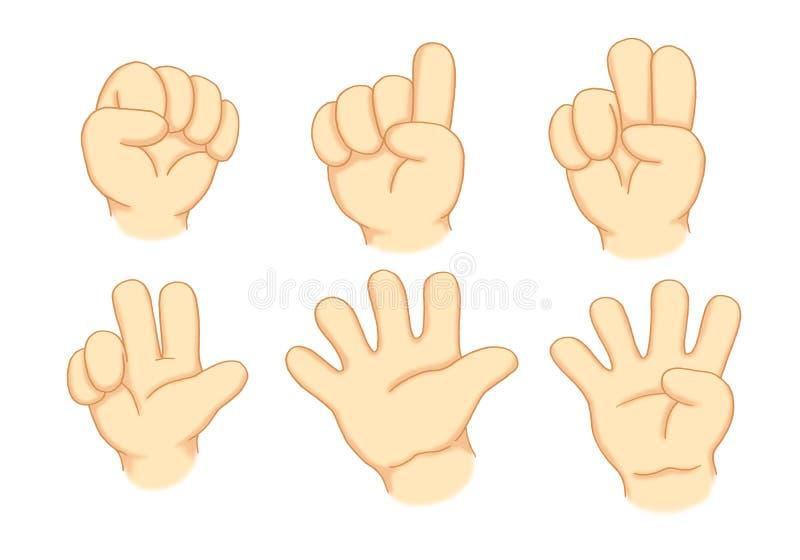 Handen en aantallen stock illustratie
