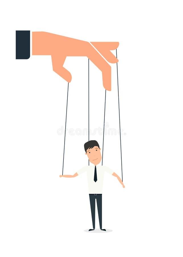 Handen en marionet vector illustratie