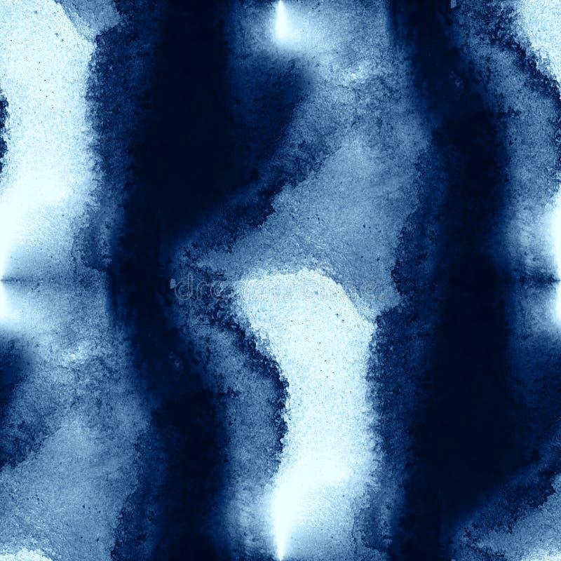 Handen för textur för färgrik för havet för modellvatten för vågor blå för konst för abstrakt begrepp målarfärg för vattenfärgen  vektor illustrationer