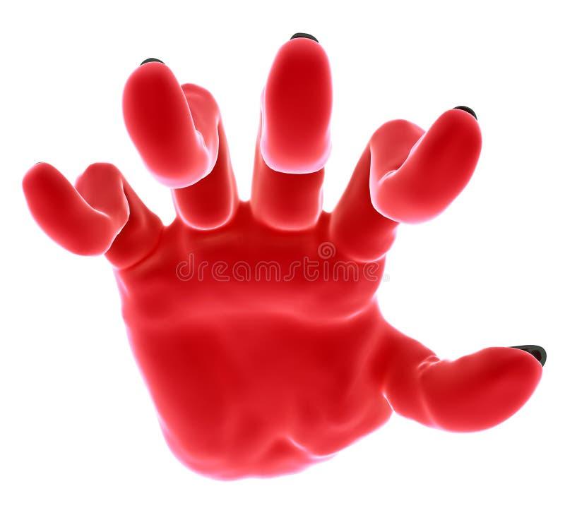 handen gömma i handflatan red royaltyfri illustrationer