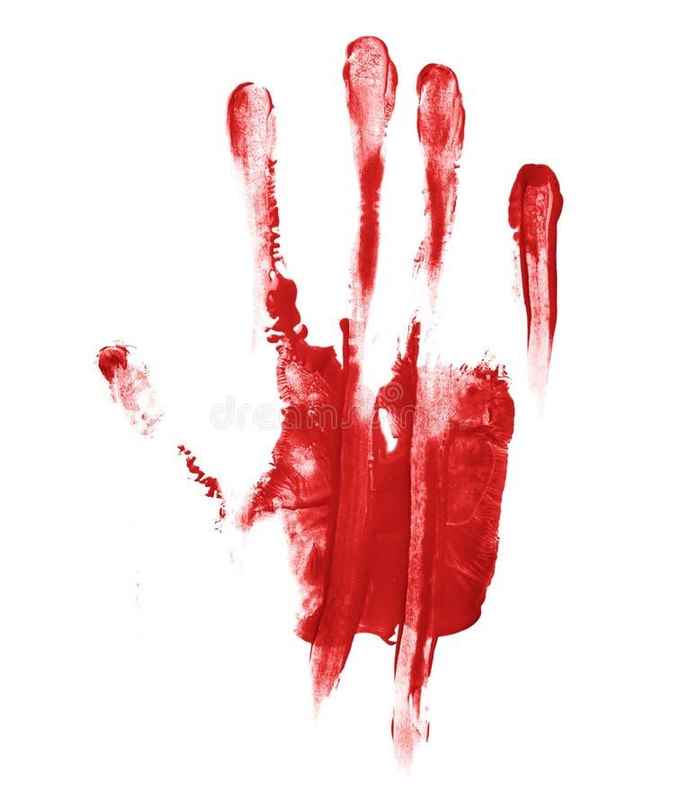 Handen gömma i handflatan trycket för olje- målarfärg arkivfoto