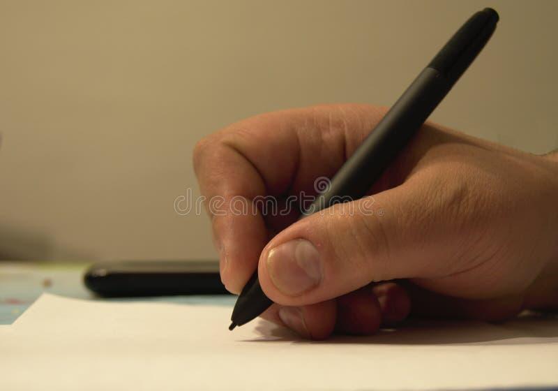 Handen het schrijven royalty-vrije stock fotografie