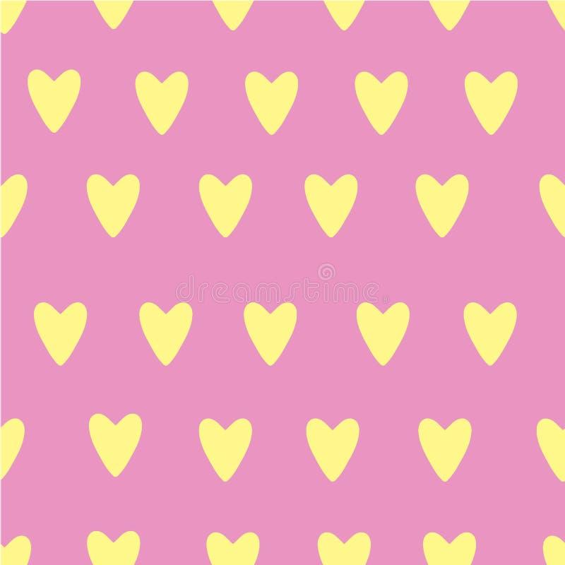 Handen målade hjärtamodellen för valentins dag vektor illustrationer