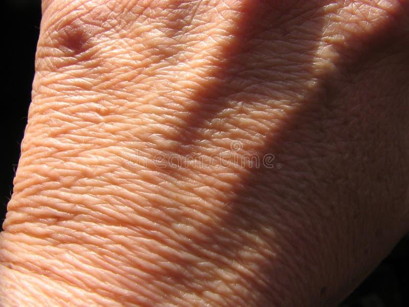 Handen neer stock afbeelding