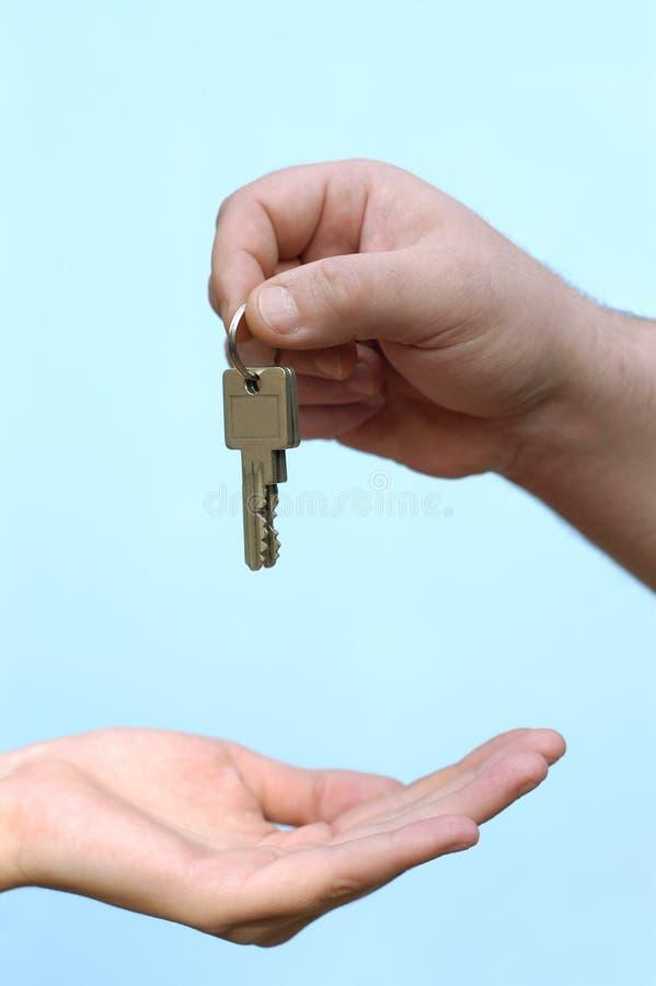 Handen: nieuw huis royalty-vrije stock afbeelding