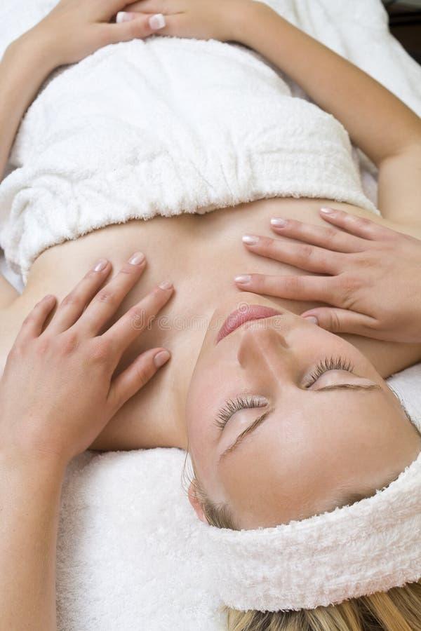 Handen op Massage royalty-vrije stock afbeelding
