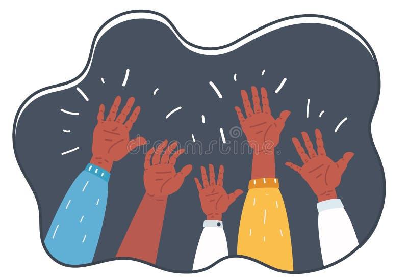 Handen op Symbool van Vrijheidskeus worden opgeheven, Pret die royalty-vrije illustratie