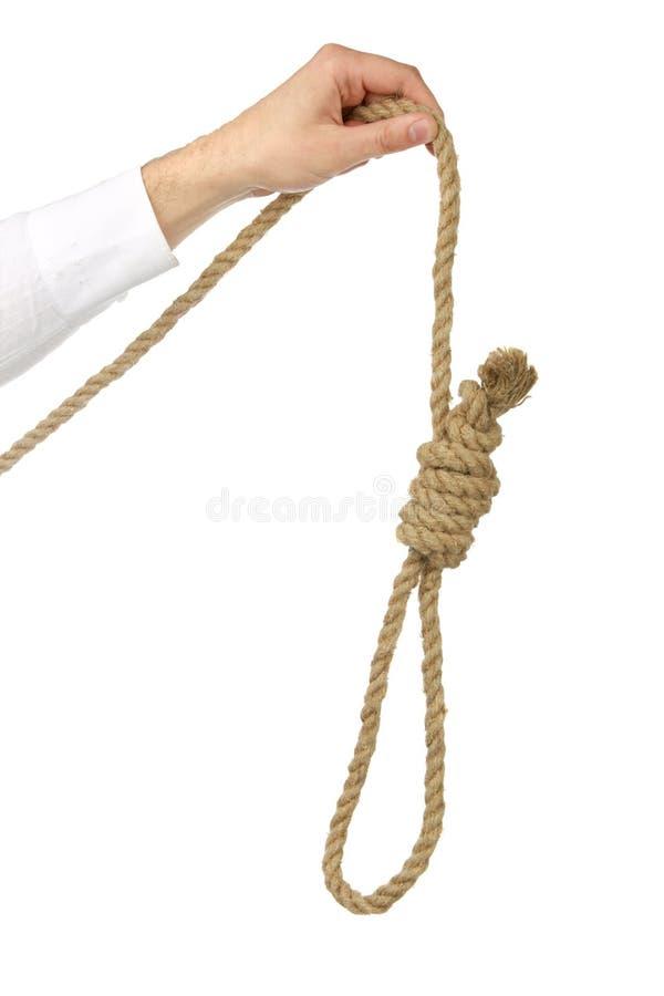 handen rymmer självmord för öglasman s arkivfoton