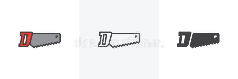 Handen s?g symbolen vektor illustrationer