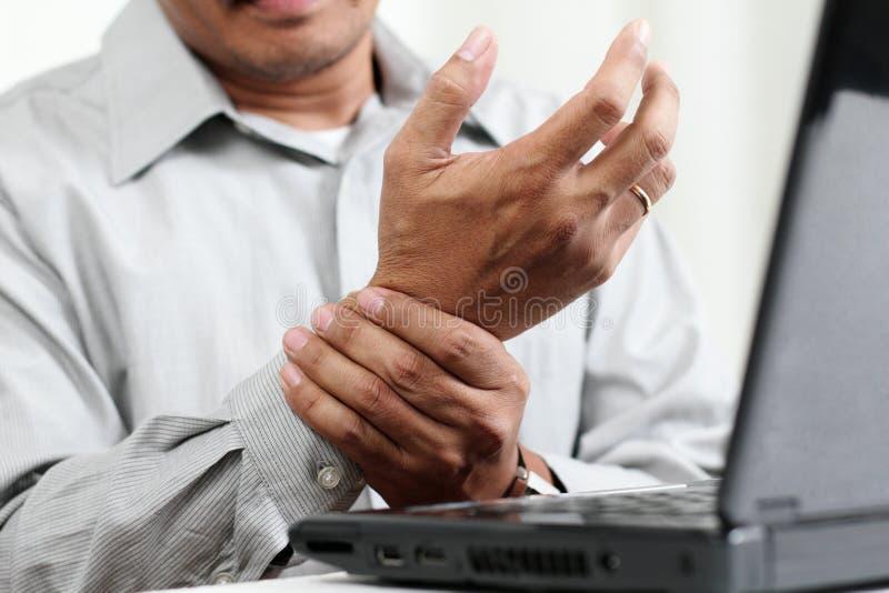 Handen smärtar royaltyfria foton
