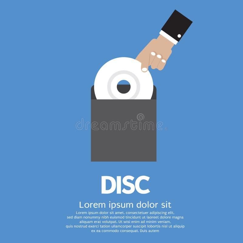 Handen - välj upp EN CD royaltyfri illustrationer