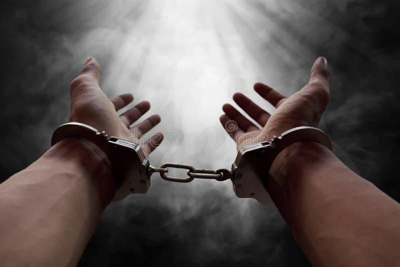 Handen van gevangene royalty-vrije stock foto