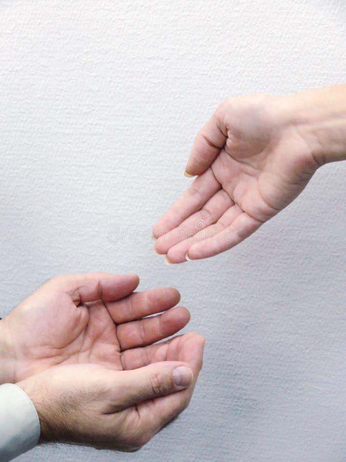 Handen van mensen. Beweging. stock afbeelding