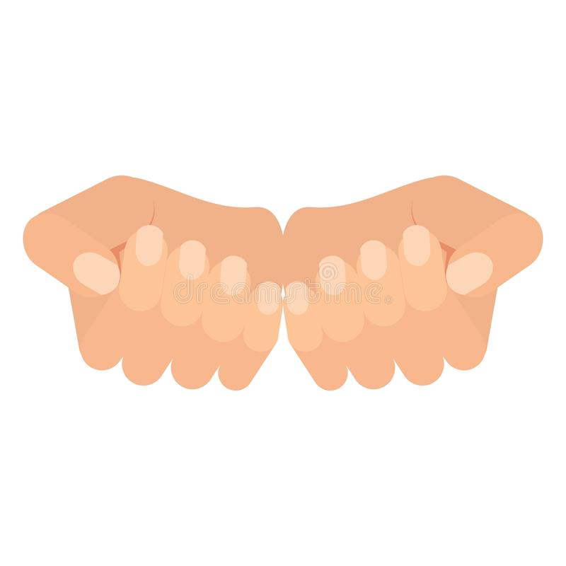 Handen van vrouw royalty-vrije illustratie