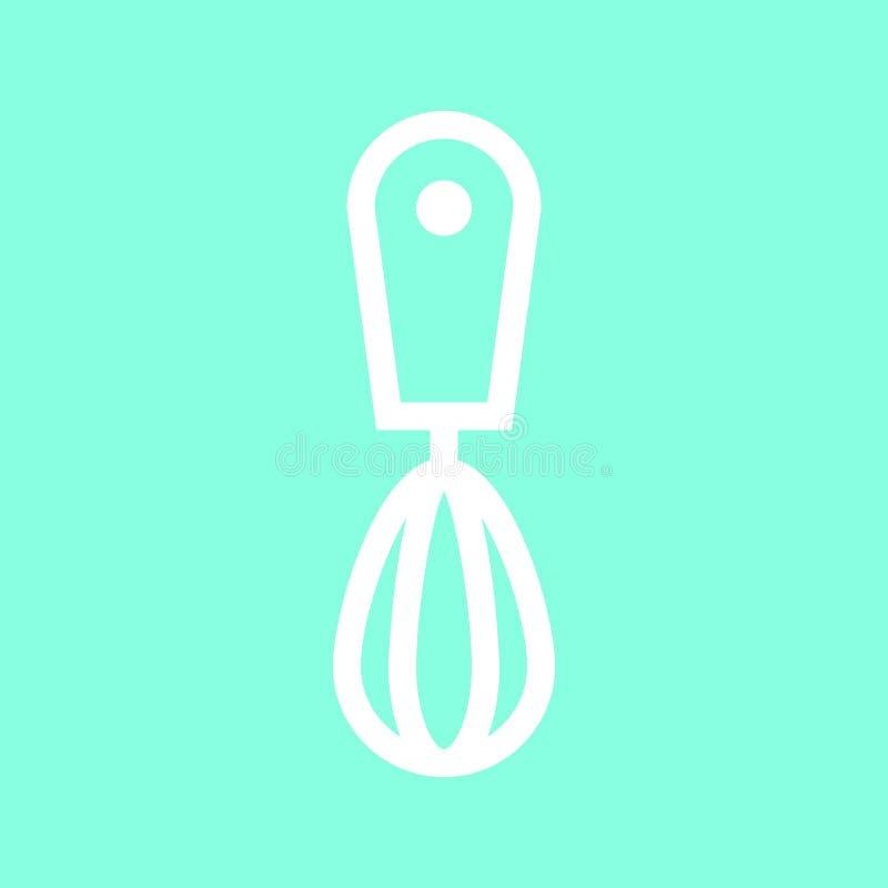Handen viftar symbolen i moderiktig plan stil som isoleras på grå bakgrund Köksymbol för din design, logo, UI Vektorillustration, stock illustrationer