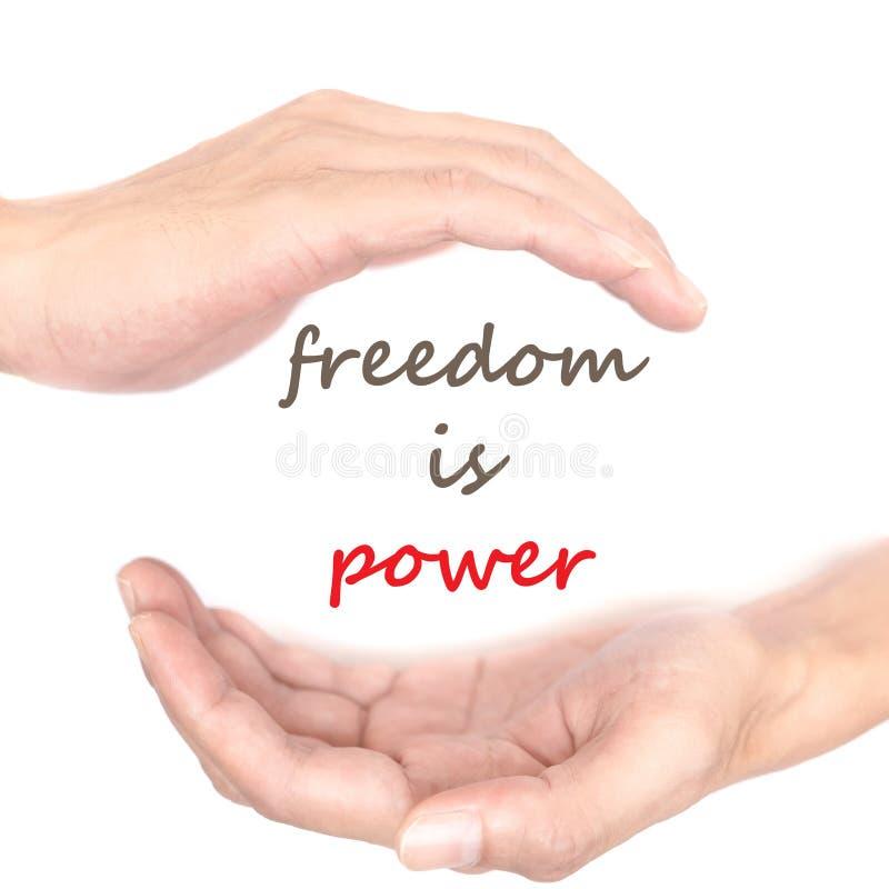 Handenconcept - de vrijheid is macht royalty-vrije stock foto's