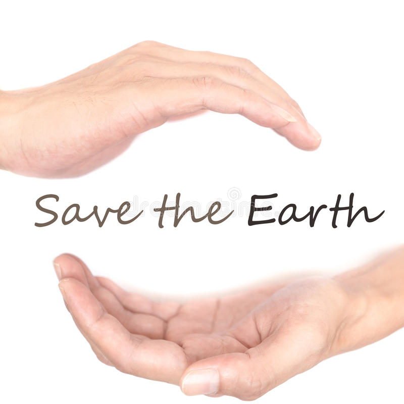 Handenconcept - sparen de aarde stock afbeeldingen